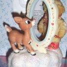 Cherished Teddies Rudolph & Me Musical Figurine Avon NEW 2006