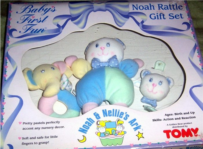 Noah Amp Nellies Ark Baby Rattle Gift Set