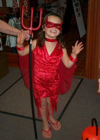 Child's Devil Deluxe Hot Stuff Halloween Costume SZ Med 8-10