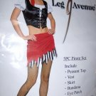 Sexy Lady Pirate Costume 5 Pieces SZ Large