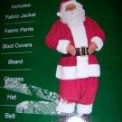 Deluxe Santa Suit SZ Medium NEW 7 Pieces Glasses Beard