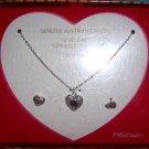 Girls Austrian Crystal February Birthstone Necklace Earring Set