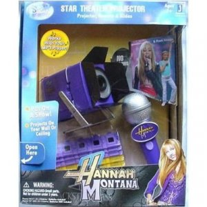 Hannah Montana Star Theater Projector Remote & Slides