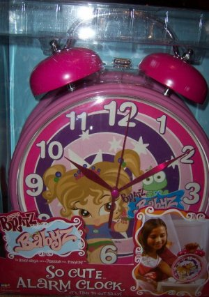 Bratz Babyz So Cute Alarm Clock NEW Pink Large Clock