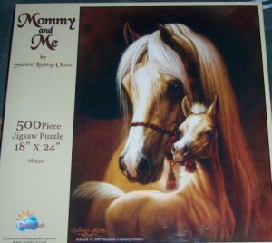 Mommy & Me Horse & Foal Puzzle 500 Pieces  Palomino Horse