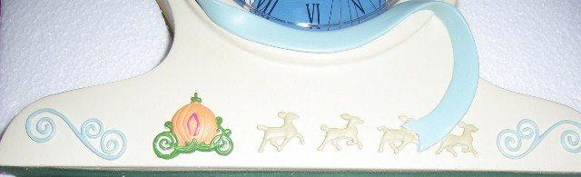Cinderella Mantel Clock with Bluebird & Carriage