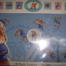 Peter Rabbit 4 Piece Layette Gift Set Boy Rattle Bib