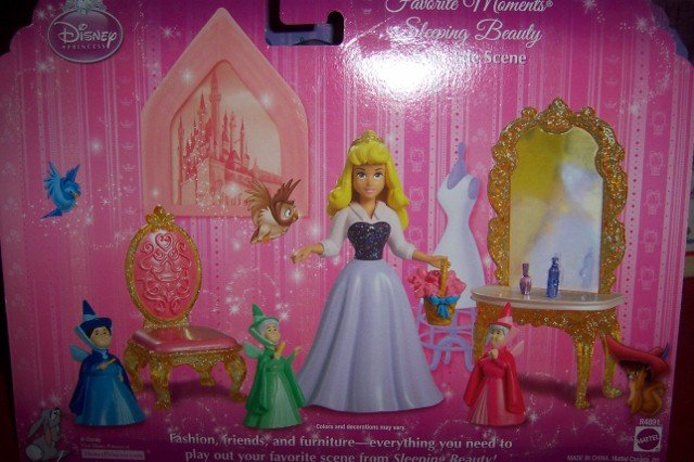 Cinderella Sleeping Beauty Fairy Tale Scene Dolls Set