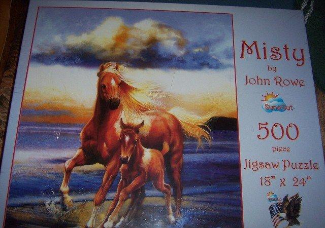 Misty Horse Colt Jigsaw Puzzle 500 Pieces