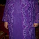 Sue Brett 4 Piece Lilac Outfit SZ 20W Dress Pant Duster NEW