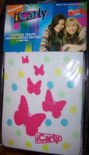 I Carly Footless Tights SZ 7-10 with Butterflies