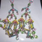Dangle Multi-colored Pierced Earrings Carol Collection NEW