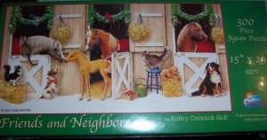 Friends & Neighbors Christmas Stable Puzzle Horses