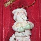 Lenox 2008 Santa & Baby Deer Ornament Woodland Friends