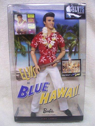 King Elvis Presley Barbie Collector Elvis Blue Hawaii Doll