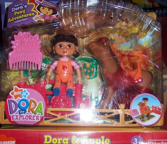 Dora Doll with Yummy Apple Horse Playset