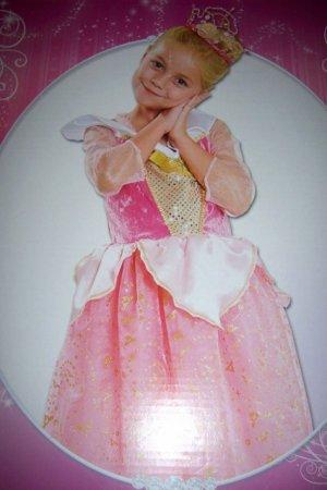 Sleeping Beauty Girls Sparkle Dress SZ 4-6X