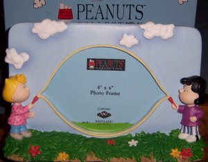 Peanuts Sally & Lucy Jump rope Picture Frame 4 x 6