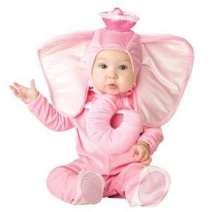 Infant Pink Elephant  Halloween Costume Size M 12-18 Months