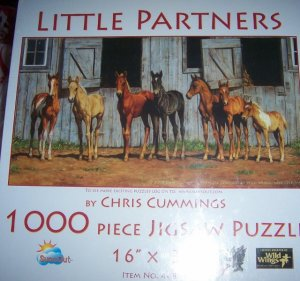 Little Partners Horse Jigsaw Puzzle 1000 Piece Ponies