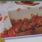 Fabric Fall Harvest Tablecloth Oblong 52 x 70 Fall Pumpkins Leaves