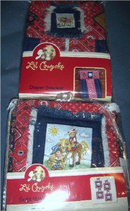 Lil Cowpokes Diaper Stacker and Soft Wall Art Western Set