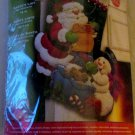 Bucilla Santa's List Felt Christmas Stocking Craft Kit