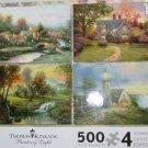 Thomas Kinkade 500 Piece 4 Jigsaw Puzzles