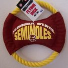 NEW FSU FLORIDA STATE  SEMINOLES FLYING  DISC DOG  TOY