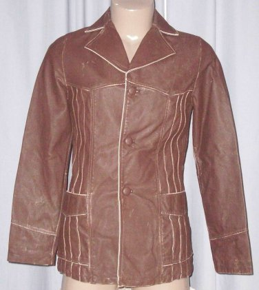 BRAND NEW Chocolate Vaudeville Leather Jacket (S) F724