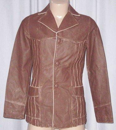 BRAND NEW Chocolate Vaudeville Leather Jacket (M) F724