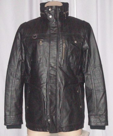 BRAND NEW Black Toronto Leather Jacket (2XL) F730