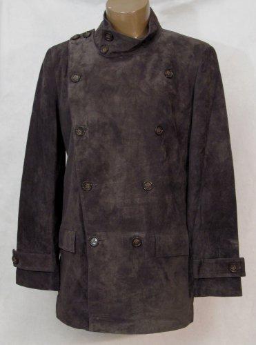 BRAND NEW Gray Kiev Suede Jacket (L) F732