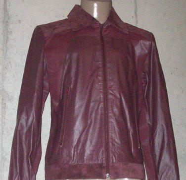 BRAND NEW Wine Westminster Suede Jacket (L) F733