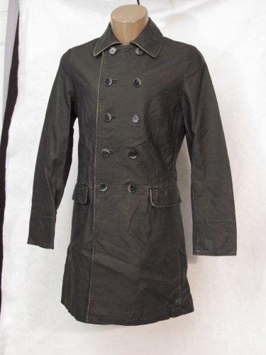 BRAND NEW Black Cap Ferrat Leather Coat (L) F734
