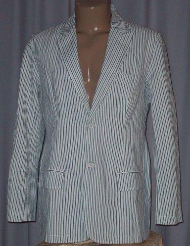 BRAND NEW Blue Striped Varsity Blazer (L) H912