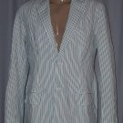 BRAND NEW Blue Striped Varsity Blazer (M) H912