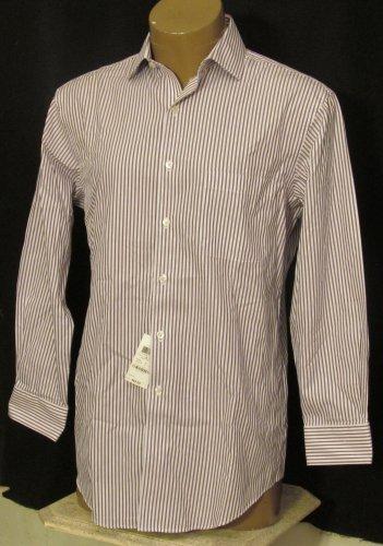 BRAND NEW Purple Striped Tasso Elba L/S Shirt 15.5 32/33 #1236
