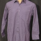 BRAND NEW Club Room Blue/Purple Squares Shirt 16 32/33 #1240