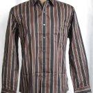 BRAND NEW Tasso Elba Brown Striped L/S Shirt (L) #0829