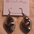 BRAND NEW Handmade Gray Glass Zulu Earrings #0570