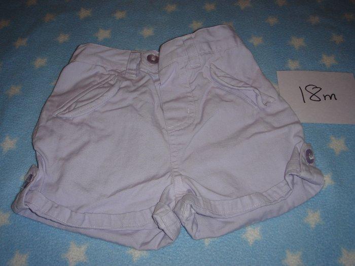18m light purple shorts