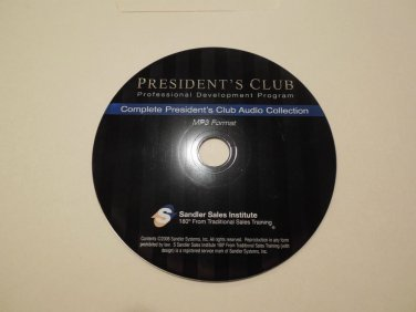 SANDLER SALES INSTITUTE PRESIDENTS CLUB Training Modules ALL 19 CDS on MP3 Disc