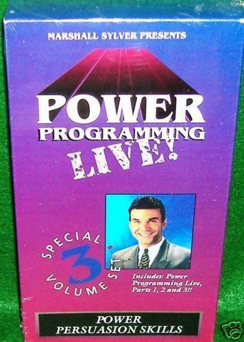 MARSHALL SYLVER - POWER PROGRAMMING  3 Volume Series HYPNOSIS NLP $199 - DVD+VHS