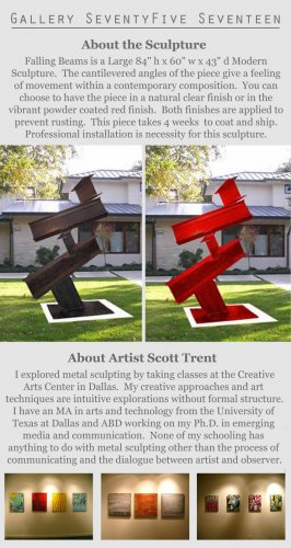 Modern Art Abstract Sculpture Metal Outside   GLY7