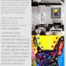 MINI PIN Pop Art Dog Mixed Media Modern Art Abstract