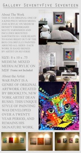 CAT Pop Original Mixed Media Modern Art Abstract GLY7
