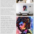 Jimi Hendrix  Pop Painting  Modern Art Abstract  GLY7
