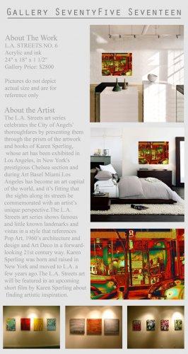 Original Modern Contemporary Painting Art City GLY7
