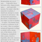 Modern Abstract Square Cube Sculpture Wood Art GLY7